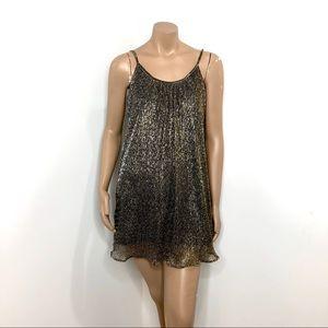 Dresses & Skirts - NWT GOLD METALLIC DRESS